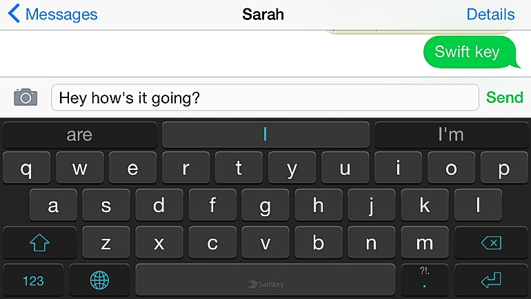SwiftKey keyboard for iOS 8.